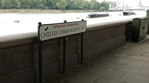 Chelsea Embankment Sign