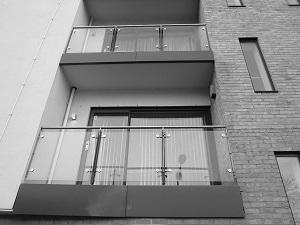 Balcony glazing window cleaning