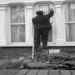 Low Level Window Cleaning Outstretched