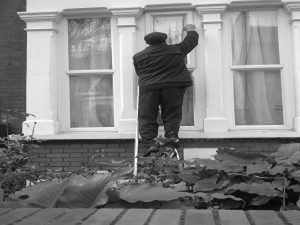 Traditional residential window cleaner